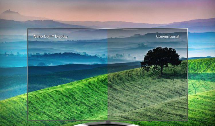 Nano Cell Display vs Conventional (LG 2017)