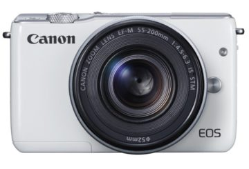 H entry-level Mirrorless camera Canon EOS M10 σε λευκό χρώμα.