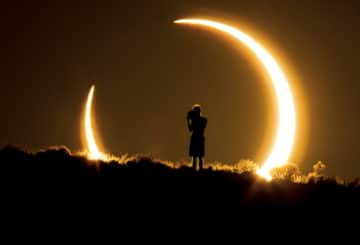 Annular Solar Eclipse over New Mexico Image Credit & Copyright: Colleen Pinski