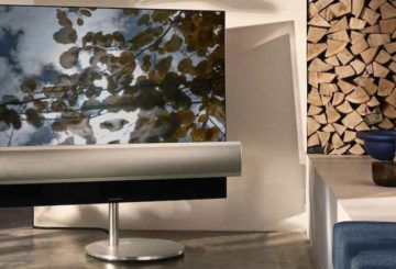 H Beovision Eclipse είναι μια OLED TV με πάνελ LG OLED. Το ηχητικό σύστημα που τη συνοδεύει είναι ισχύος 450W. (φωτό: B&O)