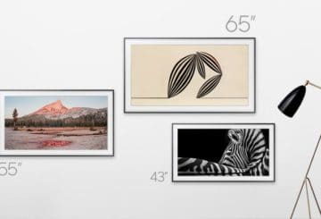 "To ""The Frame"" είναι διαθέσιμο πλέον στις 43"", 55"" και 65"". (φωτό: Samsung)"