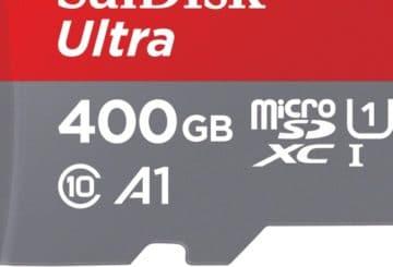 400GB Sandisk Ultra MicroSDXC, η μεγαλύτερη κάρτα μνήμης microSD στον κόσμο σήμερα. (φωτό: Western Digital)