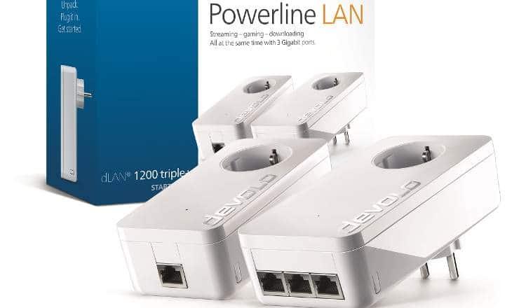 To Devolo dLAN 1200 triple+ διαθέτει τρεις θύρες gigabit και ενσωματωμένο αντιπαρασιτικό φίλτρο ρεύματος. (devolo)