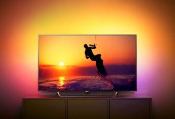 Η Philips 8602 είναι η πρώτη Quantum Dot TV της εταιρείας με επεξεργαστή εικόνας τον P5 Perfect Pixel. Επίσης, είναι εξοπλισμένη με ηχητικό σύστημα με υπογούφερ (φωτό: Philips)