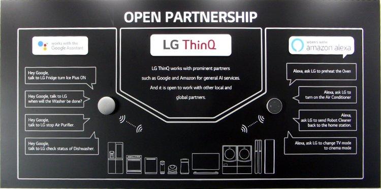 lg thinq open partnership google alexa