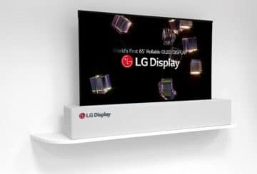 """65"""" rollable OLED Display"""