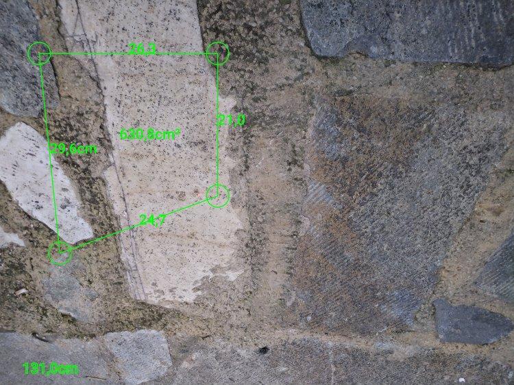 cat s61 laser area measurement