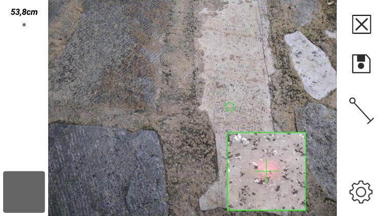 Cat S61 laser distance measurement