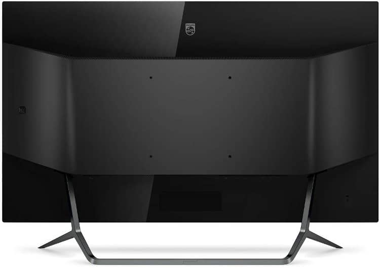 "Philips Momentum 436M6VBPAB, 43"" DisplayHDR 1000 gaming monitor, back side"
