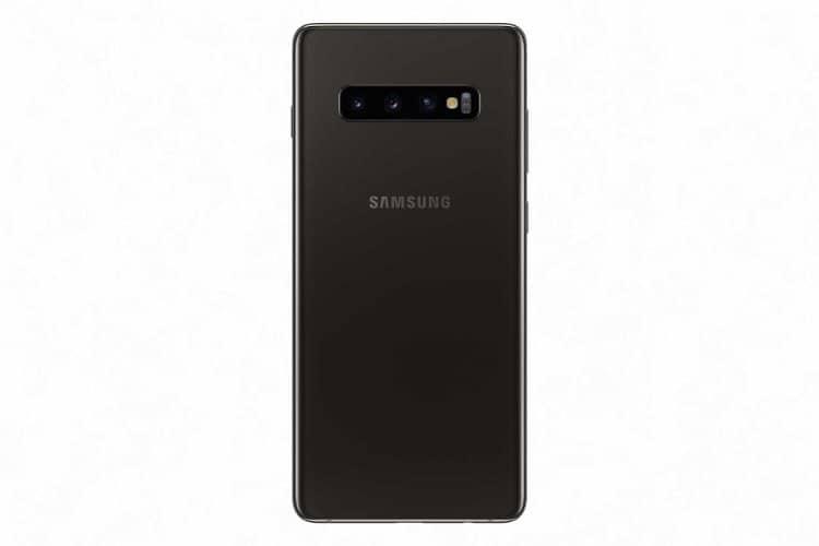 Galaxy S10, ceramic black, back