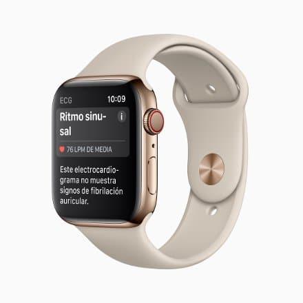 Apple Watch 4 με ηλεκτροκαρδιογράφημα
