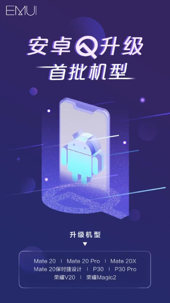 Τα πρώτα 8 Huawei smartphone με Android Q