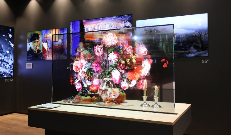 lg transparent oled signage monitor