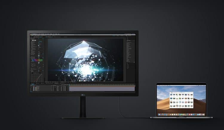 lg 24md4kl + macbook