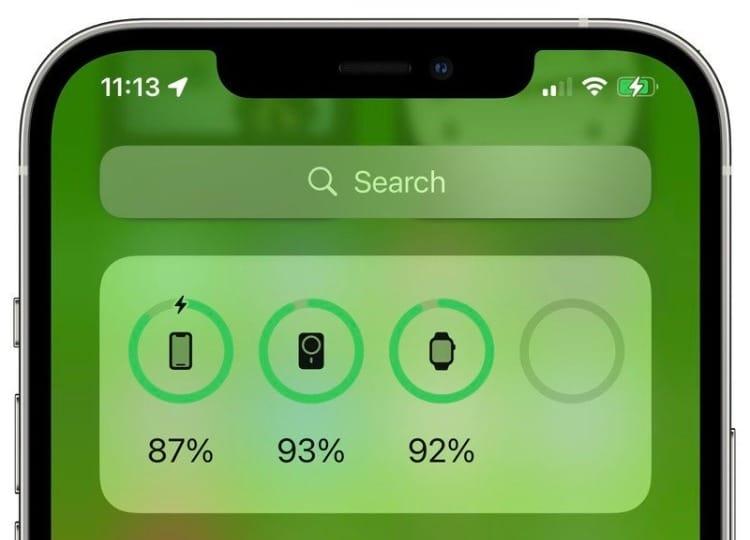 ios 15 battery widget
